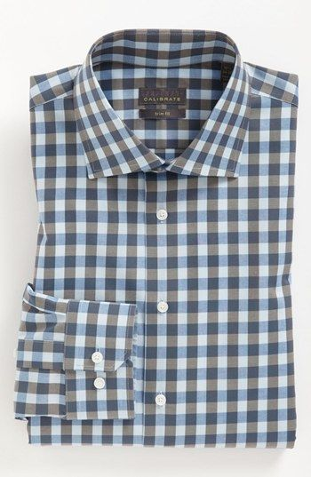 Calibrate Trim Fit Non-Iron Dress Shirt available at #Nordstrom. Dappered.com approved, 'nuff said.