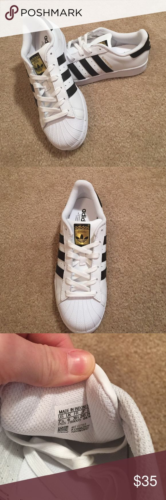Adidas shoes SIZE 7 1/2 womens. NEVER WORN! Classic adidas shoes. Adidas Shoes Sneakers