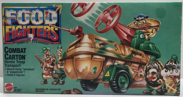We always have the hottest Vintage Toys at The Angry Spider.  Now available: TAS038032 - 1988 ...  Check it out here: http://theangryspider.com/products/tas038032-1988-mattel-food-fighters-combat-carton-heroic-troop-transport?utm_campaign=social_autopilot&utm_source=pin&utm_medium=pin