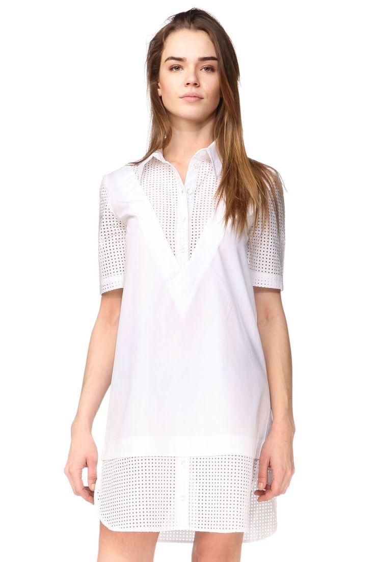 Robe chemise Charlotte Blanc American Retro sur MonShowroom.com