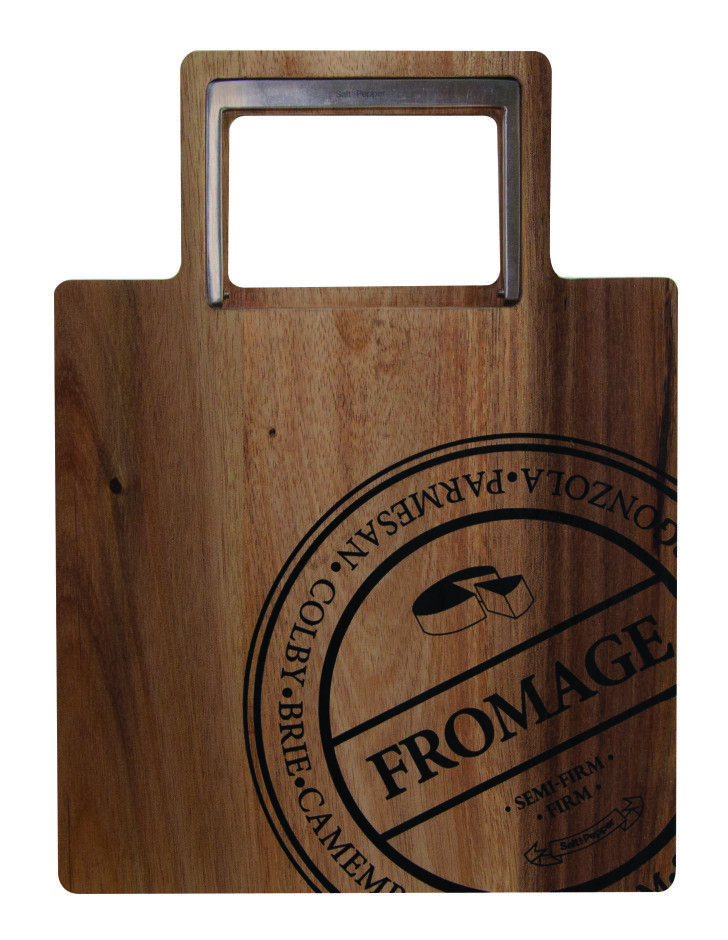 Fromage - 22 x 30cm cheese board with cutter