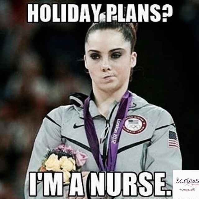 Salute to all the nurses and CNAs who work holidays. #scrubsboutique