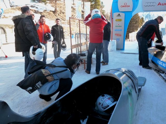 Behind the scenes at the Bobsleigh Run in St Mortitz #Switzerland