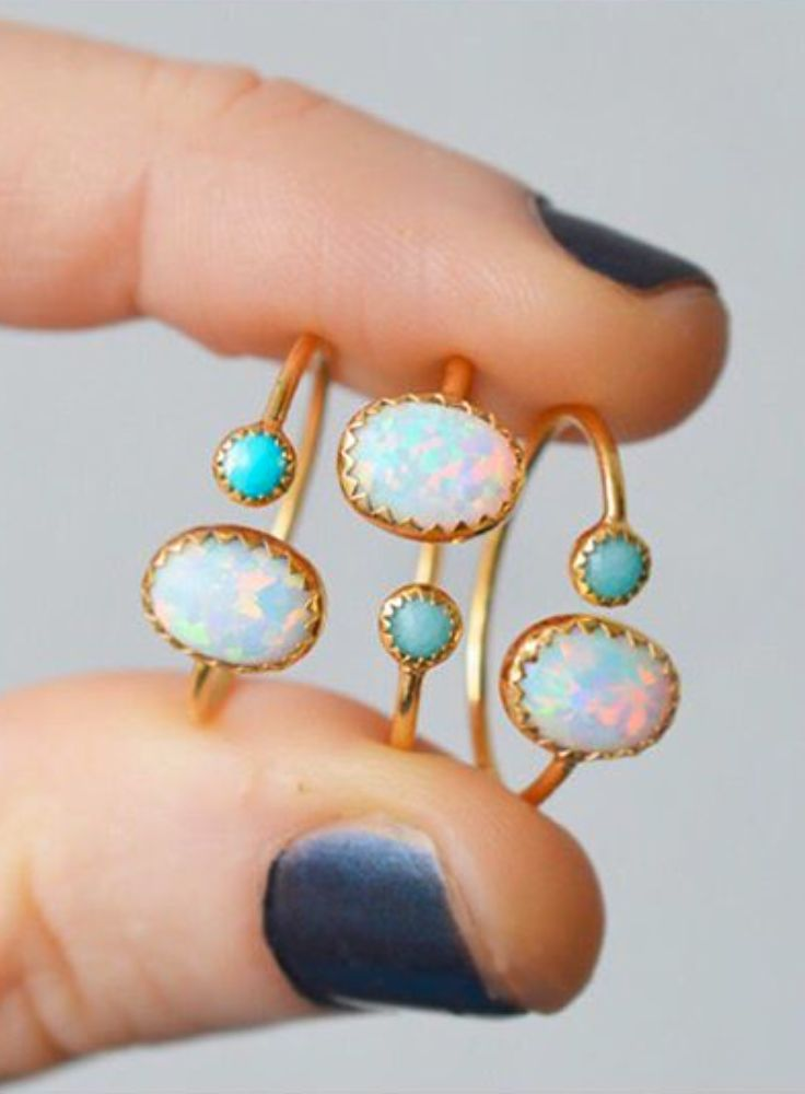 Opal + turquoise...my favs @lakaiserjewelry