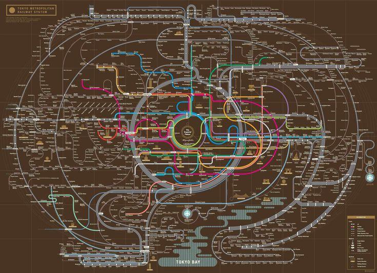 Безбашенная карта Токийского метрополитена