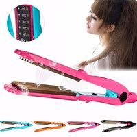 Wish | Ceramic Titanium Hair Crimper Crimping Corn Perm Wavy Waver Curler Hair Styling Tools Wet/Dry 5 Gears