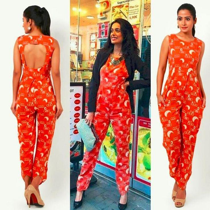Sarah-Jane Dias was spotted wearing Jayati Goenka tangerine hand printed jumpsuit ! -  Get your hands on this elegant piece by visiting the link in BIO.  -  #sarahjane #sarajane  #fashion #fashionista #bollywood #dupatta #saree #shopping #shoppingonline #india #design #designer #model #moda #bollywoodactress #indian #orange #indianclothes #feminine #colorful #beauty #unique #art #handcrafted #handmade #handwoven #cotton #dress #jumpsuit #handcrafted