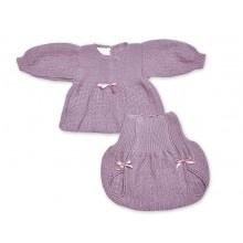 ALMA LLENAS // Conjunto Primera Puesta COCO ROSADO  Conjunto tricot artesanal en primera puesta.      Algodón 100%  Botones de nácar natural  Telas de algodón natural