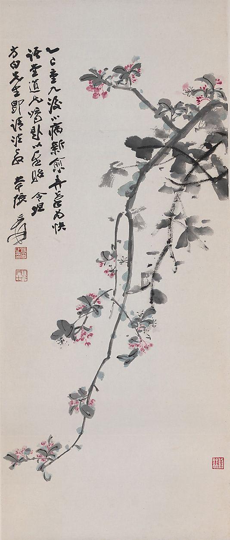 Crabapple Blossoms, by Zhang Daqian, 1965