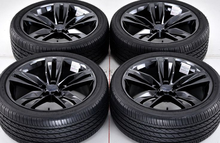 "20"" Chevrolet Camaro Black Chrome Wheels Rims Tires Factory 2016 20x8 5 5762…"