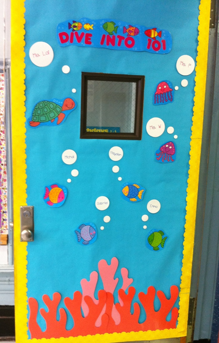 Dive In To Our Class!  Door Display