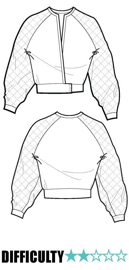 CROPPED BALOON SLEEVE COAT (Pattern PDF 4sale)