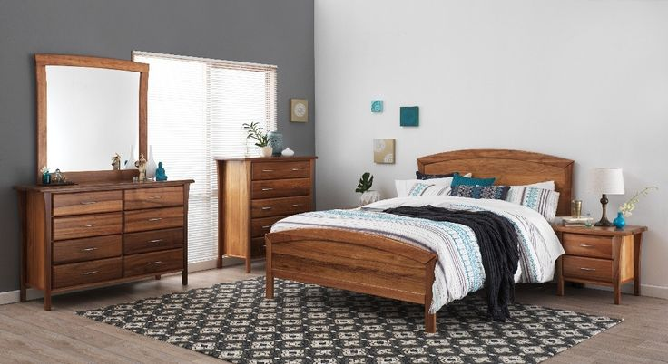 Forty winks bentley light wood stained bedroom furniture for Black bedroom suite