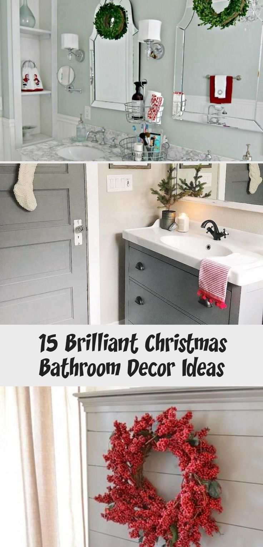 15 Brilliant Christmas Bathroom Decor Ideas  – House Decor