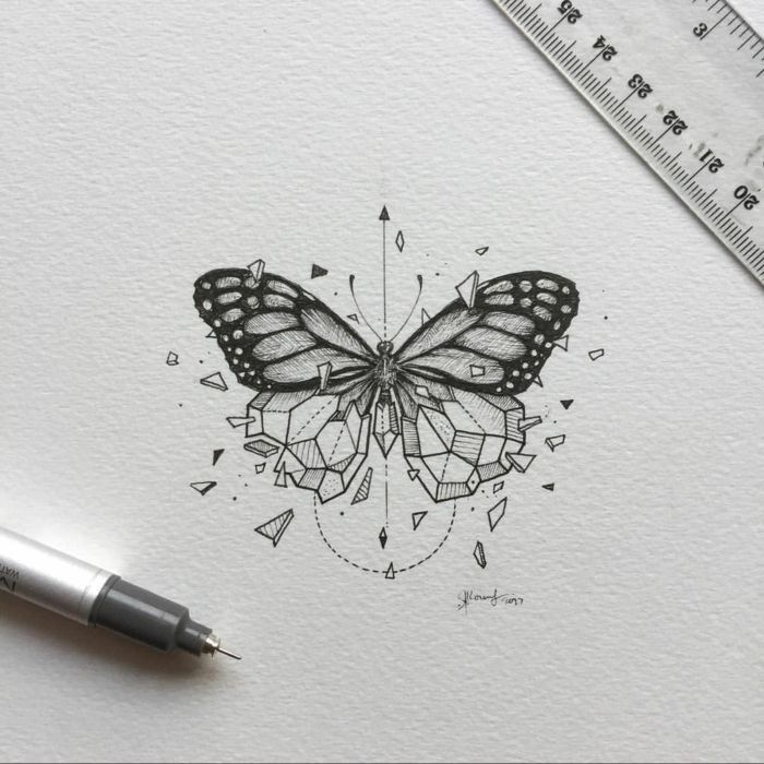 ▷ 1001 + super nice butterfly tattoo ideas   – Inspiracion