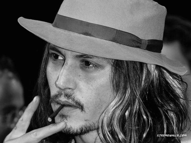 johnny depp black and white - johnny-depp Photo