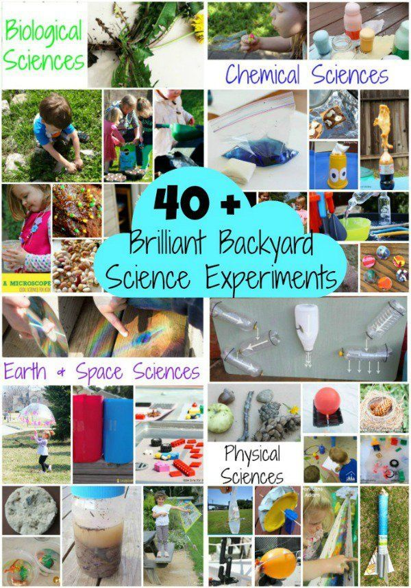 Science experiments open up the world with that sense of wonder and awe that comes naturally to children and this HUGE list of backyard science experiments provides for hours of experimentation and exploration, perfect for home, school, preschool or your community group.