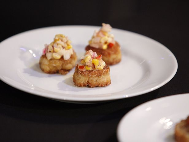 Crab Cakes with Grilled Corn Relish from FoodNetwork.com