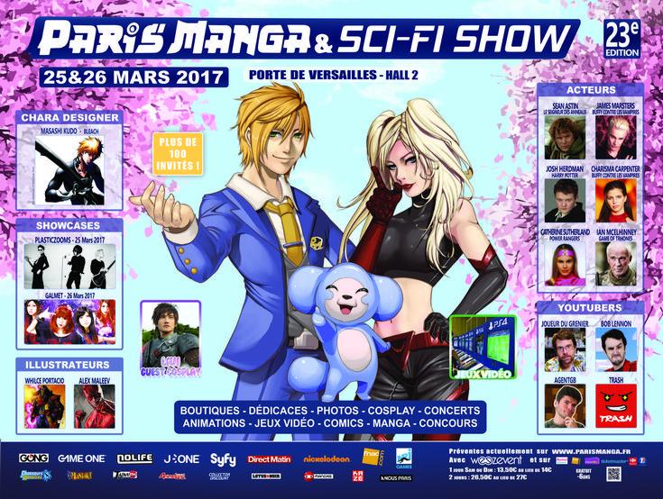Paris Manga & Sci-Fi Show : Le programme de la 23e édition  Du 25 et 26 mars 2017 aura lieu la 23e édition du Paris Manga & Sci-Fi Show à Paris. Découvrez la programmation dun festival consacré à la culture geek asiatique et anglo-saxonne. Paris Manga & Sci-Fi Show : La 23e édition  Des 1600 m2 en 2006 à lEspace Champerret aux 20 000 m2 et   Cet article Paris Manga & Sci-Fi Show : Le programme de la 23e édition est apparu en premier sur http://ift.tt/1EZIAvs.