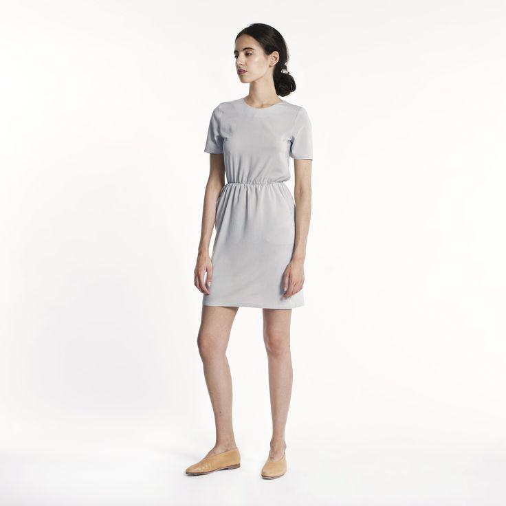 Kora Dress Light Grey Elementy #dress #lightgrey #mini #summer #elementy #minimal #classic #polishfashion