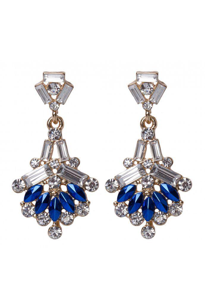Multi Stone Shape Drop Earrings $9.95
