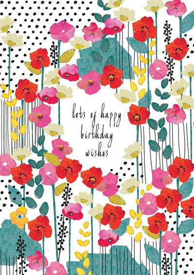print & pattern, design, modern floral, type, lettering, greeting card, illustration, colour, spring summer, birthday, girl, mother, sister, friend