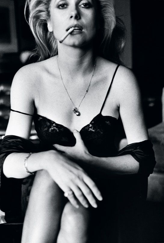 Catherine Deneuve, Esquire, Paris, 1976. Helmut Newton, of course. Rawrrrrr