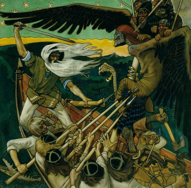 Akseli Gallen-Kallela (1865–1931): The Defence of the Sampo, 1896.