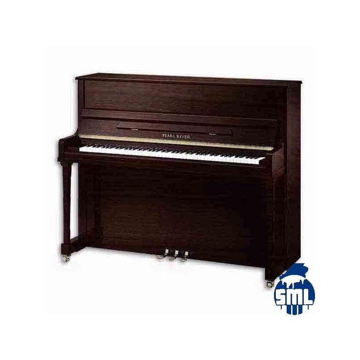 Piano vertical Pearl River em nogueira. Este modelo EU122S PW é um modelo de estúdio, adequado para pianistasde todos os níveis. A dimensão do tampo harmónico permite rivalizar com pianos de cauda de menores dimensões.