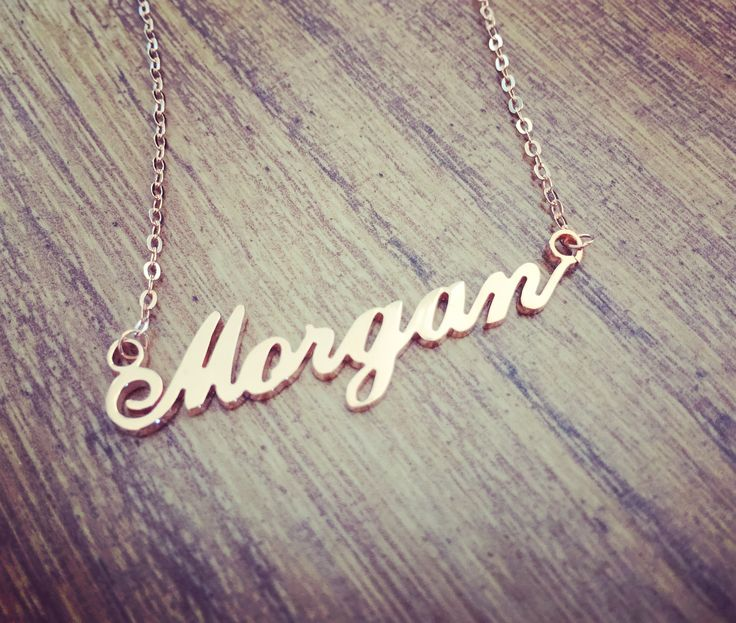 Rose Gold Carrie Style Name Necklace