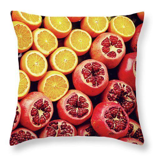 Color Of Taste By Svetlana Yelkovan Throw Pillow #SvetlanaYelkovanFineArtPhotography #pillow  #ArtForHome #FineArtPrints #fruits