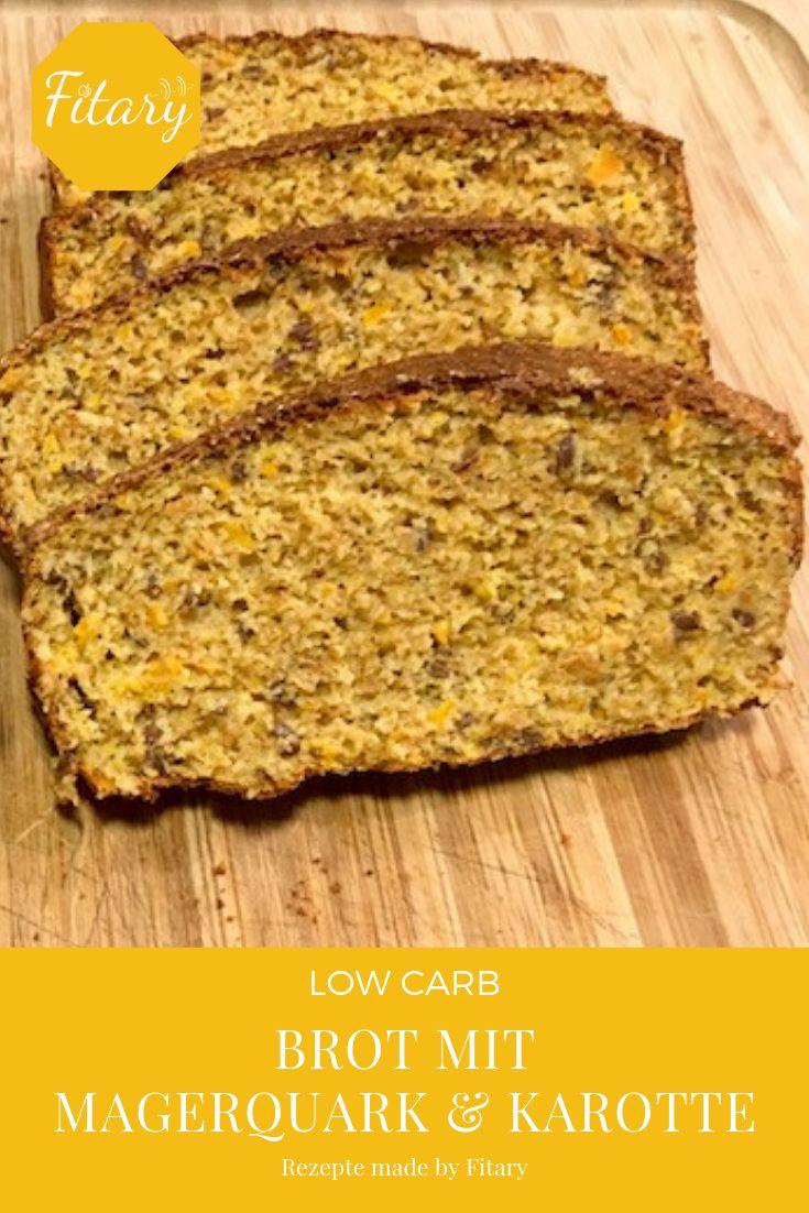 Saftiges Low Carb Brot mit Magerquark und Karotte