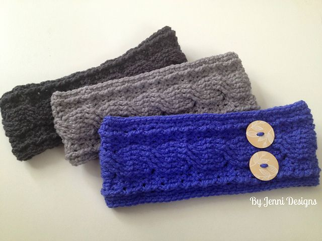 Free Crochet Patterns For Men s Ear Warmers : 1000+ images about Crochet?Headbands on Pinterest Ear ...