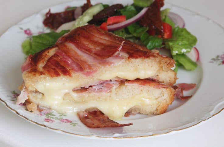 Grillad bacon sandwich