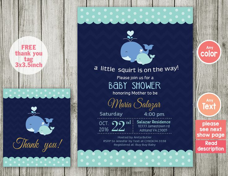Whale Baby Shower Invitation Boy Baby Shower Invite Aqua Lime Green Navy  Stripes By ABCSongShop On