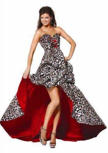 Jovani, Animal Print Dress - with Satin Lining