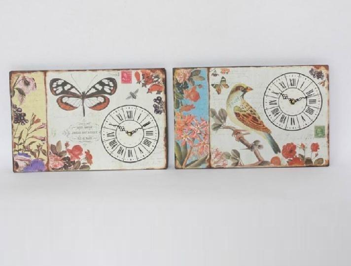 Relojes de pared de madera estilo vintage cosas para - Percheros pared vintage ...