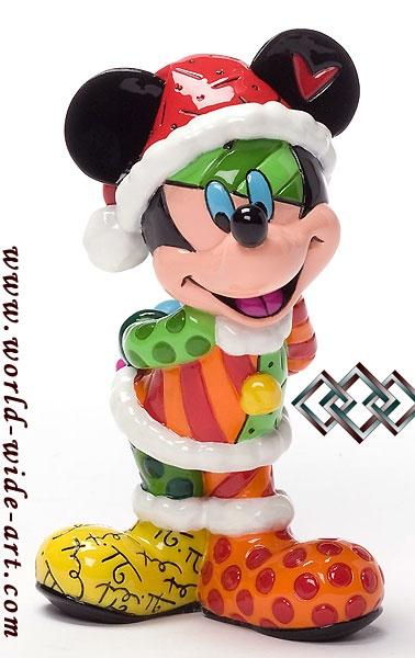 Mickey Mouse - Christmas Mickey Mini - Romero Britto - World-Wide-Art.com