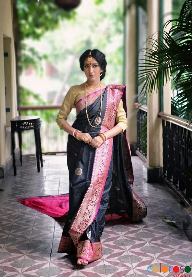 Tussar Banarasi silk saree