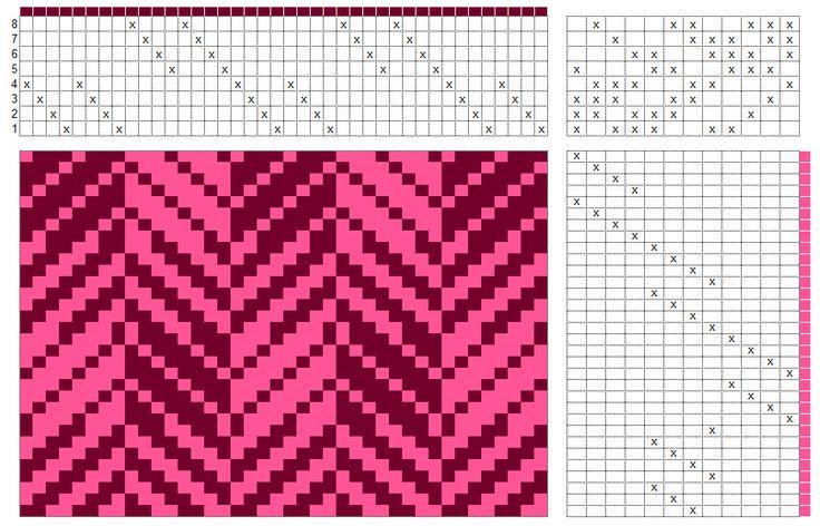 shaded-twill-draft #weaving #twill #blocks