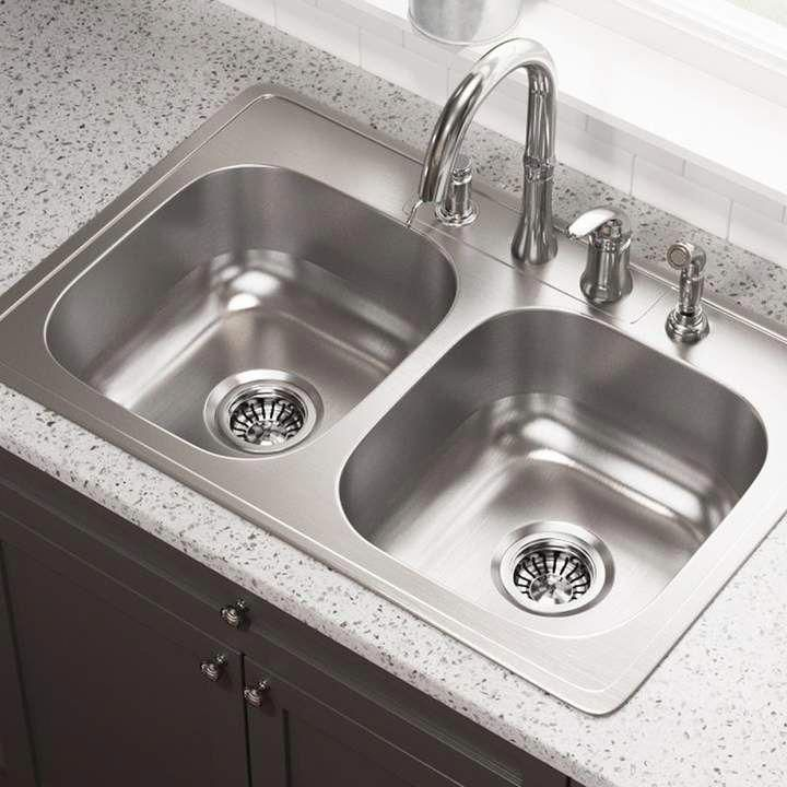 Mrdirect Stainless Steel 33 L X 22 W Double Basin Drop In Kitchen Sink Kitchensink Drop In Kitchen Sink Steel Kitchen Sink Sink
