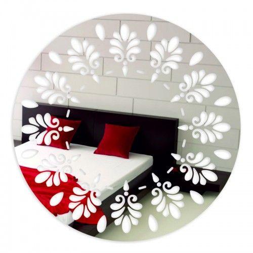 Okrúhle dekoračné zrkadlo s motívom