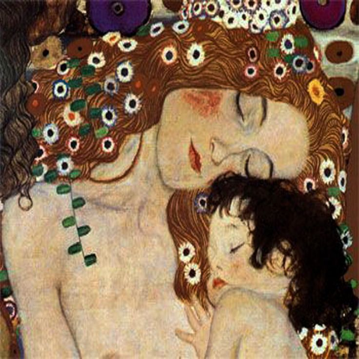 Mother and Child by Gustav Klimt 12 x 12 inch Needlepoint ...