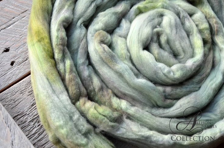 Merino Wool Top for Spinning or Felting - Moss by allisonbCOLLECTION on Etsy https://www.etsy.com/ca/listing/502369431/merino-wool-top-for-spinning-or-felting