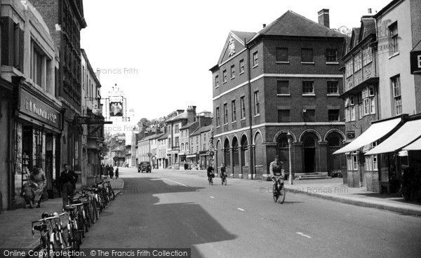 Market Harborough, High Street And Old Town Hall c.1955, from Francis Frith