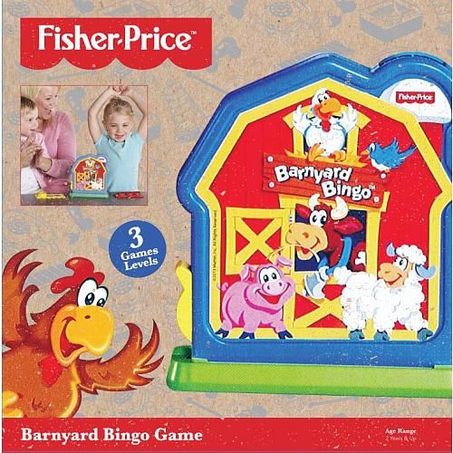 "Barnyard Bingo Animal and color matching bingo fun. Pull the lever and ""wow"" a chip appears 3 Levels of Play"