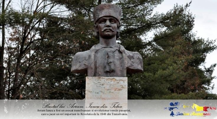 Bustul lui Avram Iancu din Satul Tebea, Comuna Baia de Cris, Judet Hunedoara