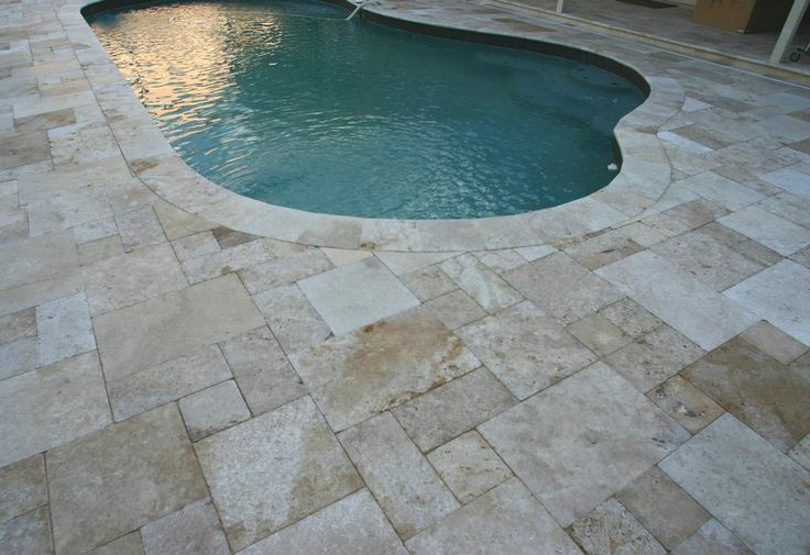 Pool Deck Travertine from Orlando Brick Pavers Inc in Orlando, FL ... |  pools | Pinterest | Pool decks,