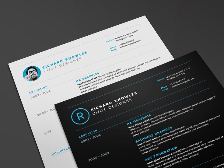 122 best Creative Resume Template images on Pinterest Creative - creative resume headers