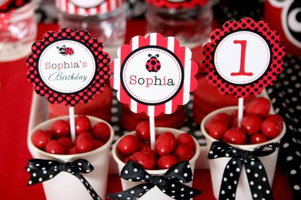 Red Ladybug Party Theme #LadyBug #Party